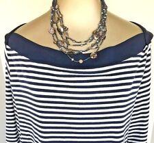 Lia Sophia Signed Abalone 5-Strand Necklace NEW