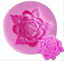 Rose with Small Leaves Mini Silicone for Fondant, Gum Paste, Chocolate, Crafts