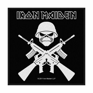 OFFICIAL Iron Maiden Life Or Death Sew On Patch 10 cm x 10 cm NEW