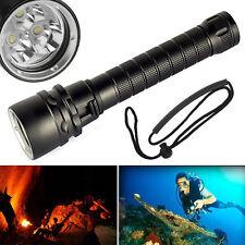 6000LM 3x XM-L2 LED Flashlight Scuba Diving Torch Linterna Buceo 100M Underwater