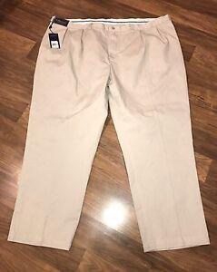 NWT Polo Ralph Lauren Pants Mens BIG 50 30 Tan CLASSIC PLEATED FIT Khaki NEW