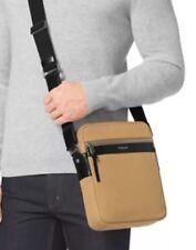 MICHAEL KORS Grant MENS Flight Bag TRAVEL $198 Camel Tan Brown CANVAS LEATHER