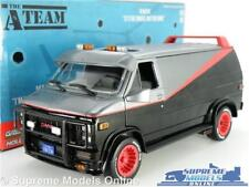 THE A TEAM MODEL VAN GMC VANDURA 1983 1:24 SCALE LARGE FILM BLACK GREENLIGHT K8