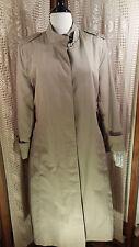 Misty HarborTrench Coat Removable Zip Lining Tan  Water Repellent Women's Sz 12R