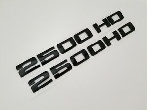 2pC BLACK 2500HD FIT Chevy Door EMBLEM Chevrolet NAMEPLATE BADGE NAME DECAL 2500