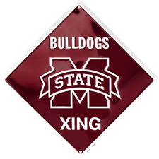 Mississippi State Bulldogs Metal Parking Sign 12 x 18 Embossed