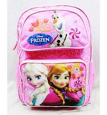 "Walt Disney Frozen Anna Elsa Olaf 16"" Adjustable Strap Backpack-Brand New w/Tag"