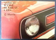 MORRIS CAR RANGE Sales Brochure 1974 #3036   MINI 1275GT - MARINA - 1800 - 2200