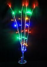 32 LED 4 Branches Multi Colours Battery Twig Lights For Christmas Wedding
