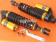 """13.5"""" 340mm Pair Air Shock Absorbers Clevis for Honda CB750 CB 750 black/ gold"""