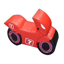 Implay Soft Play PVC Foam Children's Bright Red No.7 Motorbike Activity Toy