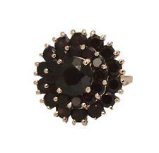 Estate Vintage 11.81ct Round Garnet 18K Rose Gold 11 gram Size 8 3/4 Ring