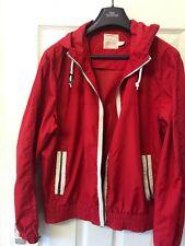 Red Top man Jacket Hoodie, Zip Up Coat Size Large