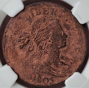 "1 Cent 1805 ""Draped Bust Cent"" Philadelphia United States VF / NGC Value 535$!!!"
