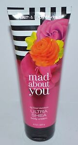 BATH & BODY WORKS MAD ABOUT YOU ULTRA SHEA CREAM HAND LOTION 8 OZ LARGE MOISTURE