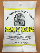 Claeys Lemon Drops Old Fashioned Hard Candy 24 PACK 6oz Bags FREE SHIPPING