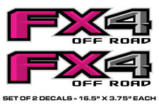 """FX4 Off Road Truck Bed Stickers Decal Set For 2015-2018 Ford F150 17""""X4"""" PINK"""