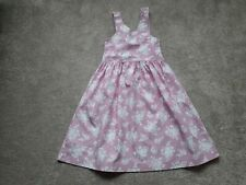 Mini Boden girls pink and white summers dress age 7-8 years