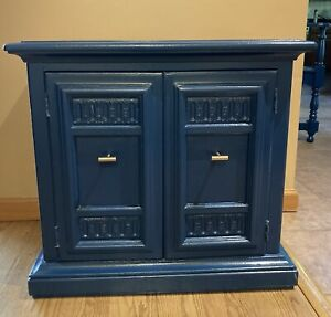 Blue Wooden Buffet Cabinet- Refurbished