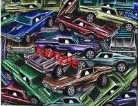 HOT WHEELS REDLINES CUSTOM MUSTANG CARS ART PRINT COLLECT THEM ALL