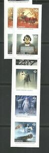 BOOKLET STRIP   HAUNTED CANADA  # 2861 - 2865 GREEN APPLE VARIETY