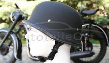 Oldtimer Stahlhelm WH1 Größe: M Schwarz matt Wehrmacht Motorrad Helm Halbschale