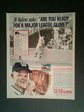 1962 Al Kaline Tigers Baseball Wilson Glove Sports Memorabilia Promo Trade Ad