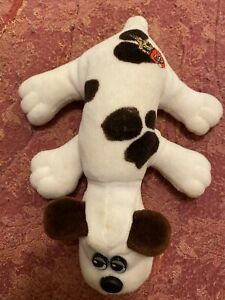Vintage Pound Puppy 1986 White with Black Spots