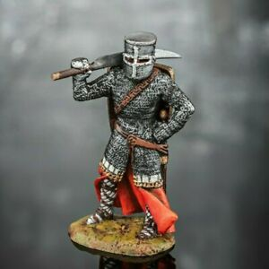 Infantryman Knight Military PAINTED. Tin Soldiers 54mm 1/32