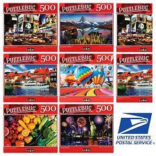 Lot of 2 - 500/300 pc Jigsaw Random Puzzles All New Sealed Puzzlebug & Cardinal