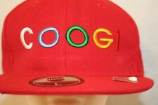COOGI SpellOut Fitted Lg Hat RED Cap Multicolor Embroidered Letters HipHop