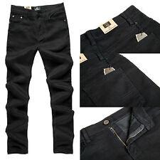 Men's Robelli Designer Noir Denim Skinny / Slim Jeans (W40)