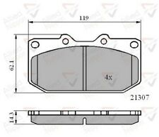 Allied Nippon Front Brake Pad Set Fits Nissan Subaru LTB878