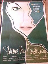 47x67 Fashion poster original Diane von Furstenberg paris france women inspire