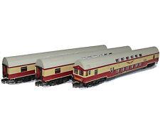 Kühn 91040 - 3er Set Doppelstockwagen DR, Sputnik, Epoche IV - Spur N - NEU