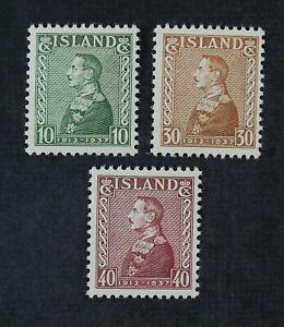CKStamps: Iceland Stamps Collection Scott#199-201 Mint NH OG