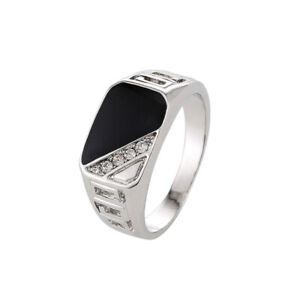 New Men Diamonds Band Biker Jewelry Titanium Alloy Rings Creative Fashion Gift