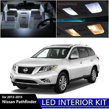 12PCS White Interior LED Light Package Kit for 2013 - 2015 Nissan Pathfinder