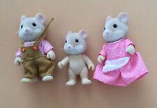 Vintage Retro Sylvanian Families Mouse Family Calico