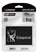 """Kingston KC600 1TB 1.0 TB 2.5"""" SATA III 3D TLC SATA3 SKC600 1T Solid State Drive"""