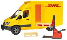 Bruder MB Sprinter DHL Truck w/ Manually Operated Pallet Jack & 2 Pallets 02534