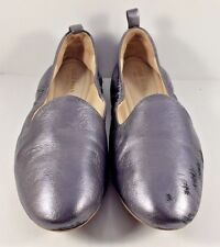 Cole Haan Tali Dark Silver Leather Loafer Ballerina Flats Womens Size US 7,5M