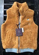 UNIQLO UNDERCOVER Kids Zip Up Fleece Vest Size 2-3 Brown