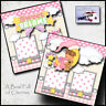 SWEET DREAMS ~ BABY GIRL PRINTED 2 premade scrapbook pages paper piecing CHERRY
