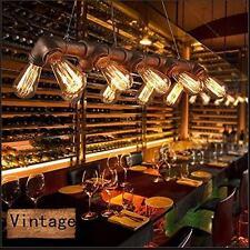 Vintage industrial pendentif plafond lustre lumière, rétro métal tuyau d'eau lampe