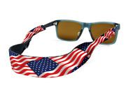 CROAKIES Eyeglass Retainer USA Flag Boating Fishing Outdoors Rallies NWT