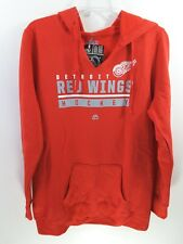 DETROIT RED WINGS Women's Hand Pass Split Neck Hoodie Majestic Red XL NHL