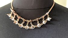 NWT VITA FEDE PINK GOLD DOUBLE CRYSTAL NECKLACE