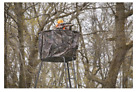 Hunting Hub Blind Half For 20 Ft Tripod Weather Resistant Zippered Entrance Camo