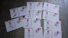 lot 10 enveloppes pré timbrées premier jour jeux olympiques hiver alberville 92